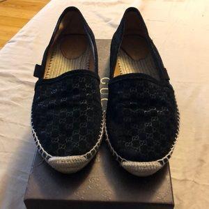 Black Gucci espadrilles